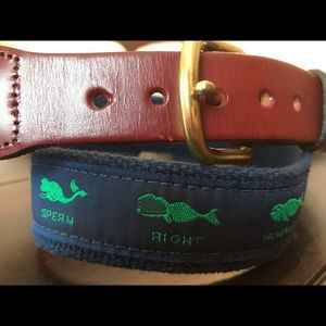 🐳 Canvas and Leather Whale Belt